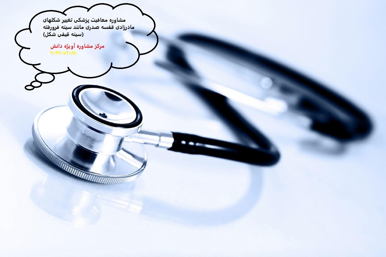 مشاوره معافیت پزشکی تغییر شکلهای مادرزادی قفسه صدری مانند سینه فرورفته (سینه قیفی شکل)