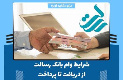شرایط وام بانک رسالت از دریافت تا پرداخت